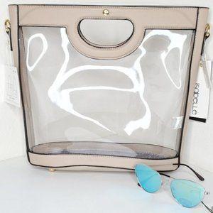 Handbags - Transparent Handbag With Leather Trim